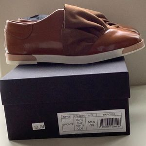 NWT Miista leather slip-on sneakers shoes size39